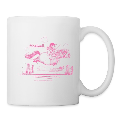 Thelwell Cartoon Pony Sprung Rosa - Tasse