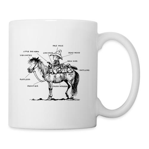 Thelwell Cartoon Bescheribung Westernpferd - Tasse