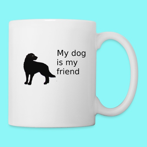 T-Shirt damski My dog is my friend - Kubek