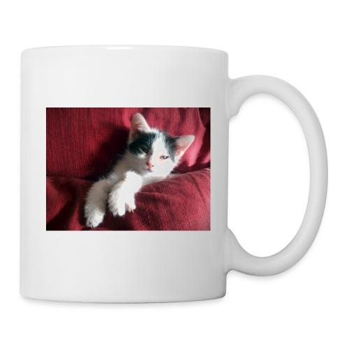 Katze in rot - Tasse