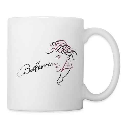 Beethoven (aubergine / black) - Mug