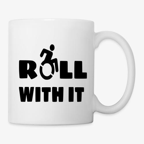 > Ik rol met mijn rolstoel, roller, gehandicapt - Mok