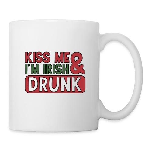 Kiss Me I'm Irish & Drunk - Party Irisch Bier - Tasse