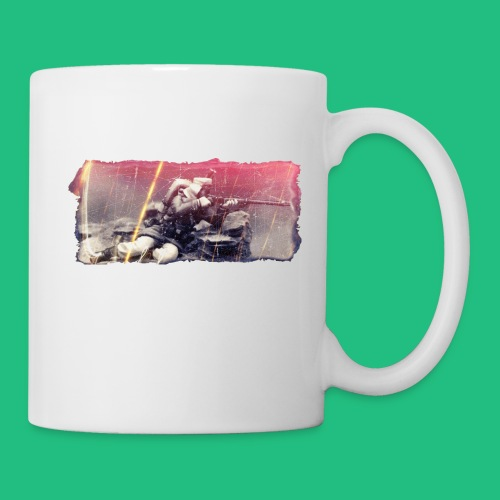 tireur couche - Mug blanc