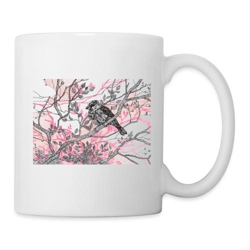 Kommt ein Vöglein geflogen... - Vogel auf Ast - Tasse