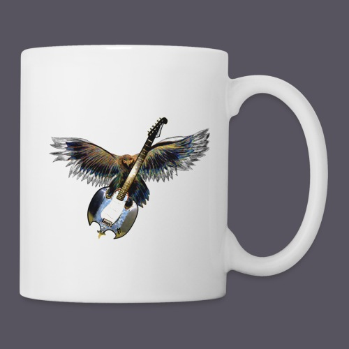 Greifvogel mitGitarrenbeute - Tasse