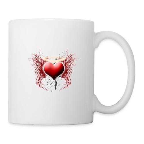 Grunge Heart - Mug blanc