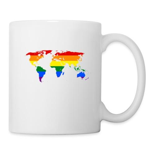 rainbow world map (regnbåge världskarta) motiv - Mugg