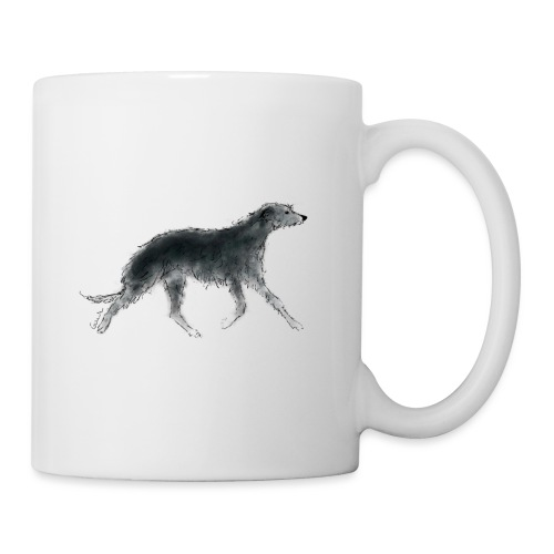 Deerhound in Aquarell - Tasse