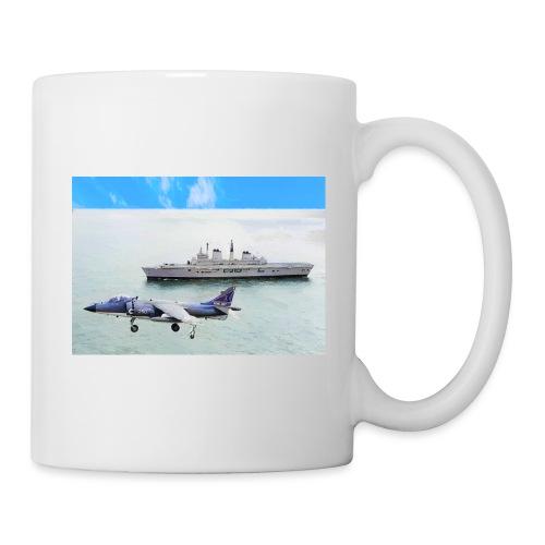 Sea harrier and Invicible digital oil - Mug