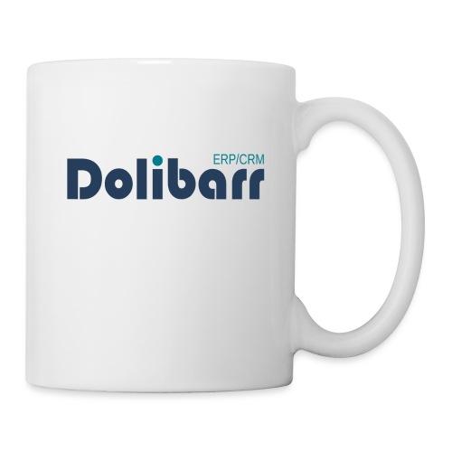 Dolibarr Logo new blue - Mug blanc