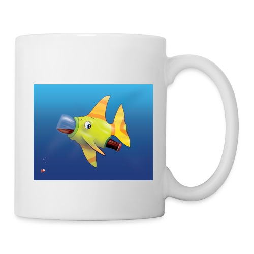 Greedy Fish - Mug blanc