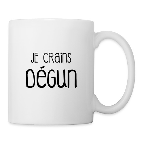 Humour Citation Marseille JE CRAINS DEGUN  - Mug blanc