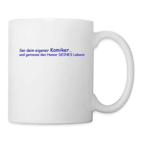 Komiker blau - Tasse