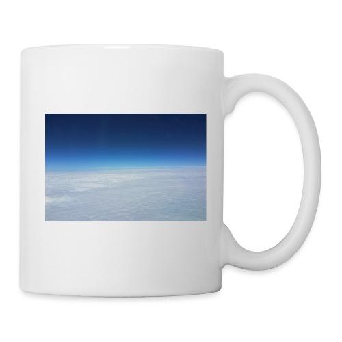 blauer Himmel, weiße Wolken - Flug über Australien - Tasse