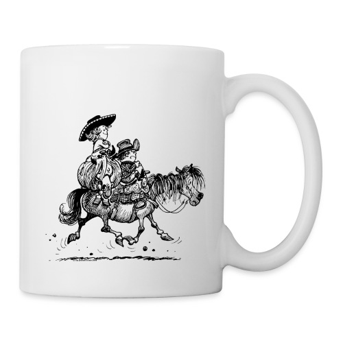 Thelwell Two Cowboys Reiten - Tasse