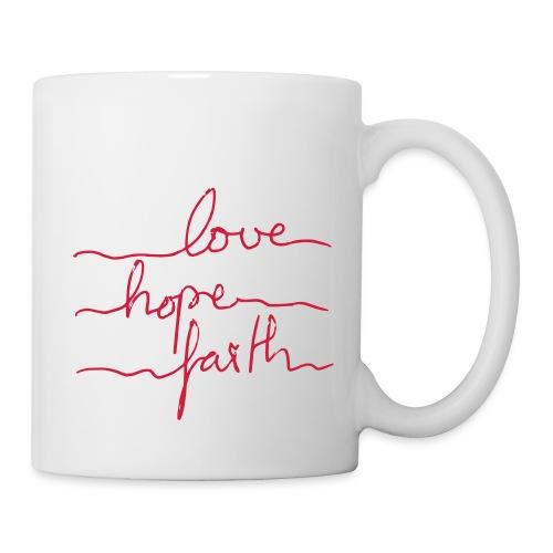 LoveHopeFaith Typo - Tasse