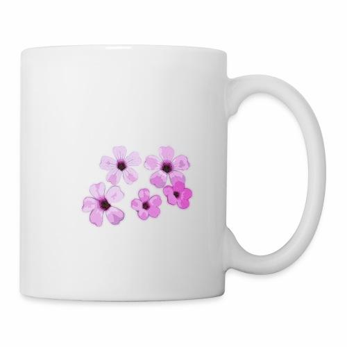 Blumen violett - Tasse