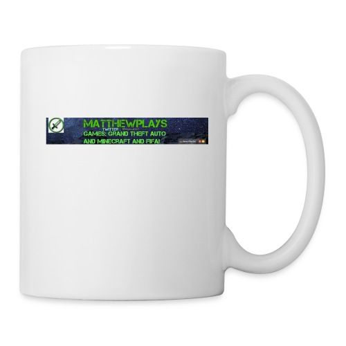 White YouTube Banner Tee - Mug