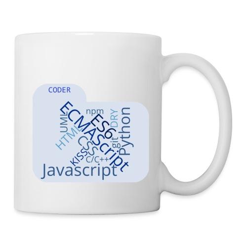 coder wordcloud - Mug