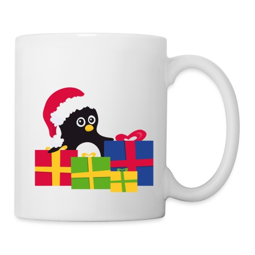 Pingouin de Noël - Mug blanc