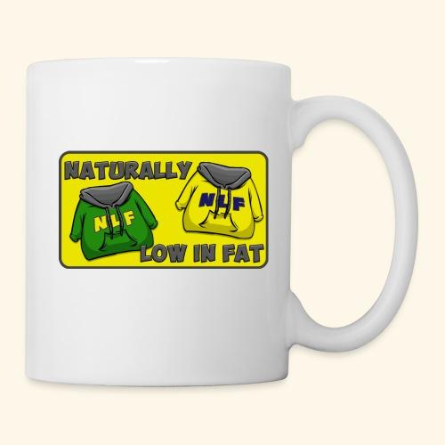 drapeau naturallylowinfat - Mug blanc