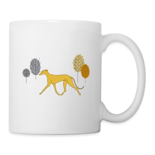 Gelber Windhund - Tasse