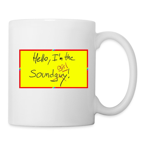 hello, I am the sound girl - yellow sign - Mug