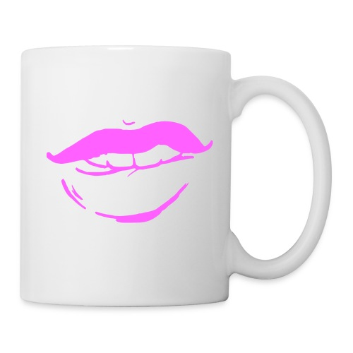 Bouche rose - Mug blanc