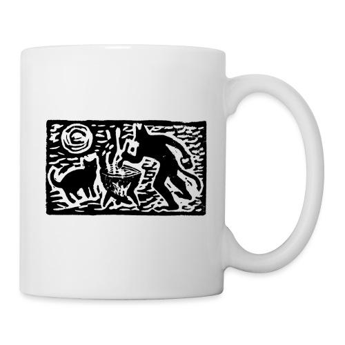 Teufel mit Katze - Tasse
