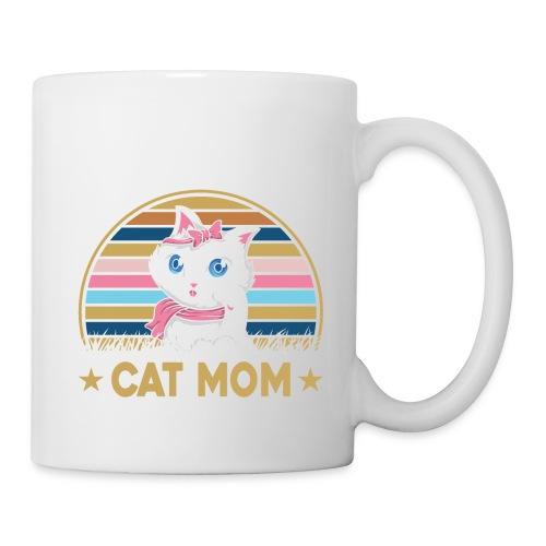 CAT MOM - Mug blanc