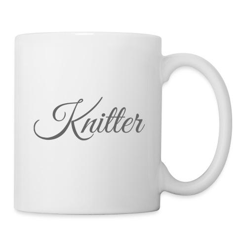 Knitter, dark gray - Mug