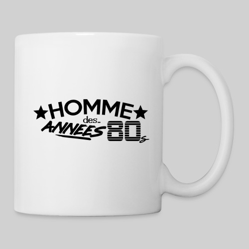 HOMME DES ANNEES 80 - Mug blanc