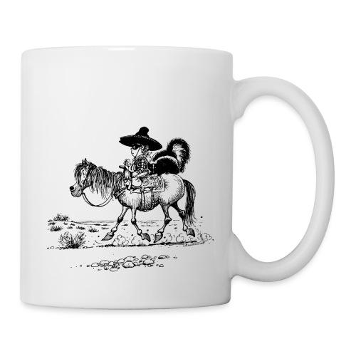 Thelwell Cowboy mit einem Stinktier - Tasse