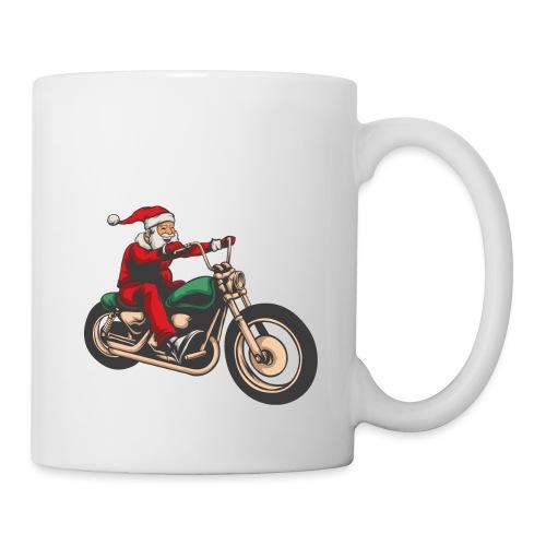Cool Winter Christmas Santa Motor Biker - Mug