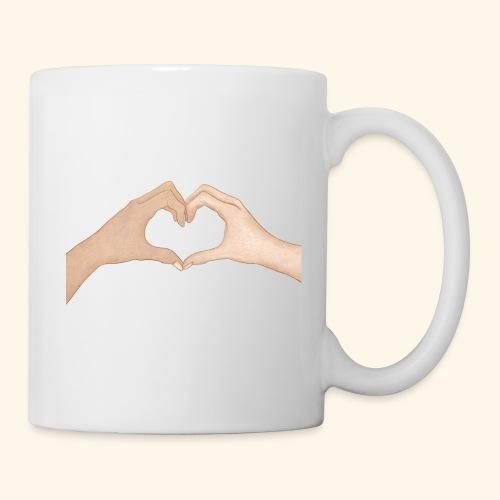 Mains Coeur Amour - Love hands - Mug blanc