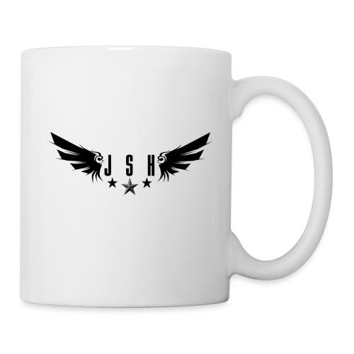 letterswingsstarsblack png - Mug