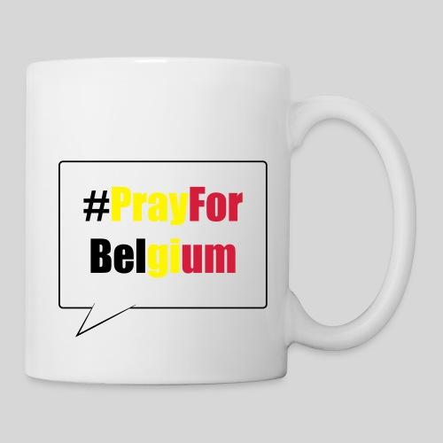 #PrayForBelgium - Mug blanc