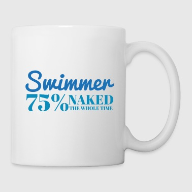 Pływanie / pływak: Swimmer - 75% nagi - Kubek