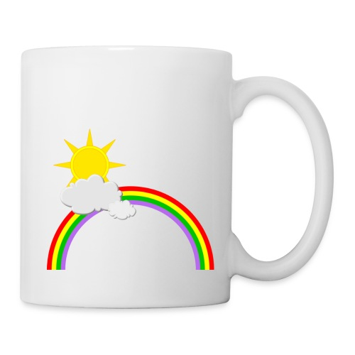 Regenbogen, Sonne, Wolken - Tasse