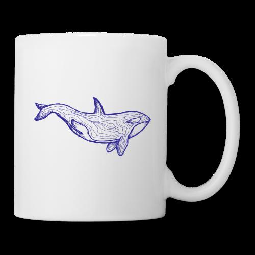 Blauer Orca - Tasse