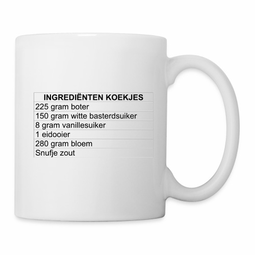 INGREDIËNTEN KOEKJES (limited edition) - Mok