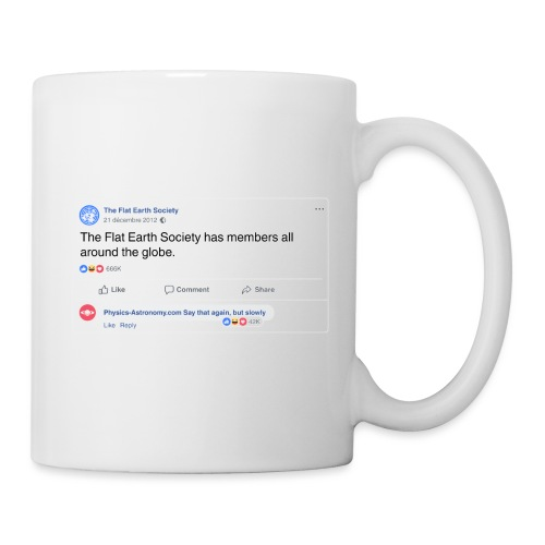 Flat Earth-Goodies - Mug blanc