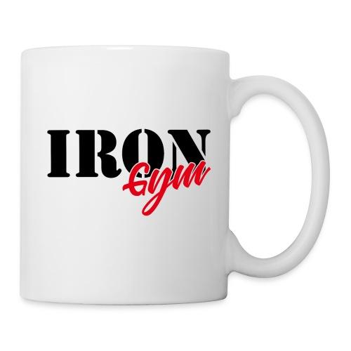 iron gym logo black - Taza