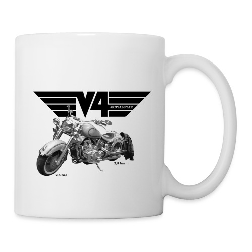 V4 Motorcycles black Wings - Tasse