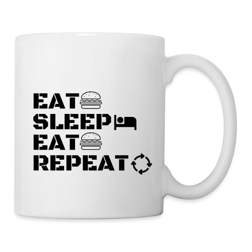 eat sleep eat repeat - Mug blanc