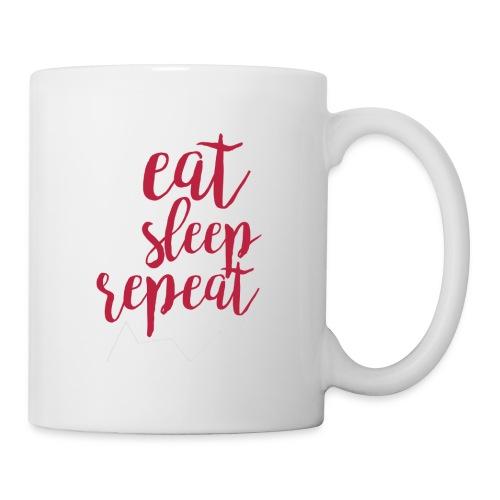 eat sleep repeat - Taza