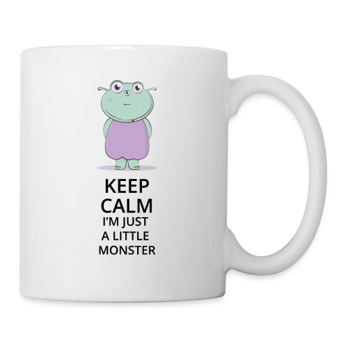 Keep Calm - Little Monster - Petit Monstre - Mug blanc