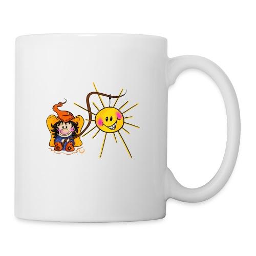 Sonne geangelt - Tasse