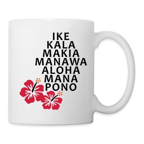Die 7 Huna Prinzipien / Hibiscus Blüten - Tasse